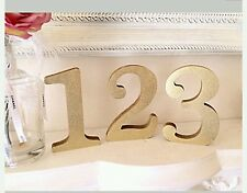Wedding Table Numbers Gold Glitter Set Of 1-10