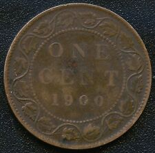 1900 'H' Canada Large 1 Cent Coin