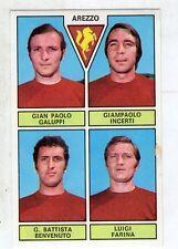 figurina - CALCIATORI PANINI 1971/72 NEW - AREZZO GALUPPI, INCERTI, BENVENUTO