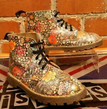 Rare dr martens forest fleurs enfants uk 13 eu 31.5 made in england-sienna miller