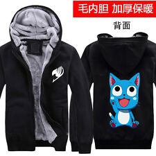 Anime Fairy Tail Cute Happy Cosplay Costume Hoodie Sweatshirt Outerwear Coat #11