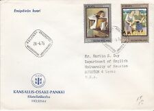 First day cover, Finland, Europa CEPT, Scott #572-3, Sallinen, 1975