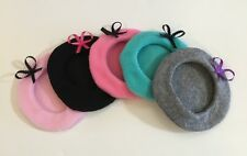 18 Inch Doll Hats 5 Berets Made To Fit American Girl Grace Inspired. Lot 1