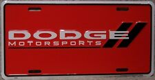 Aluminum License Plate vehicle Dodge Motorsports Racing emblem logo NEW