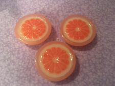 "For 18"" American Girl Doll BJD My Life Journey Fake Food GrapeFruit Lot of 3pcs"