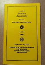 CoolHistory ++ 1973-79 PENSION AGREEMENT  between CHRYSLER CORPORATION AND UAW