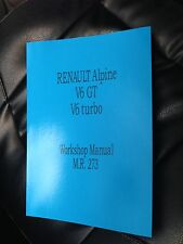 Renault Alpine V6 GT & Turbo Workshop Manual Factory Service Instruction
