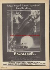 Excalibur Cinema 1981 Magazine Advert #1205