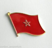 MOROCCO MOROCCAN INTERNATIONAL COUNTRY WORLD FLAG LAPEL PIN BADGE 3/4 INCH