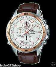 EFR-547L-7A Brown Edifice Casio Men's Watches Analog 100m Leather Band New