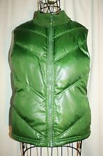 Old Navy Quilted Puffy Green Vest Size M