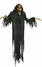 Halloween LifeSize Animated 6 Foot HANGING WITCH Prop Haunted House NEW