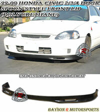 Spn-Style Front Lip (Urethane) Fits 99-00 Civic 2dr