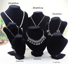 Velvet Necklace Pendant Chain Jewelry Bust Display Holder Stand Brand JG