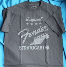 Fender Original Strat Short Sleeve Tee Shirt, Charcoal Gray, 100% Cotton, 2XL