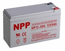 NPP 12V 9 Amp 12 Volt 9Ah AGM Battery Replaces CP1290 6-DW-9 HR9-12 PS-1290 F2
