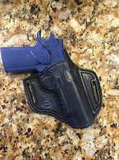 "MADE IN U.S.A!! Leather OWB Cross Draw Holster For 5"" 1911 Operator With Rail"
