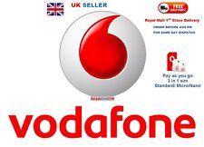 Vodaphone PAYG pay as you go sim card Standard/ Micro/Nano 3 in 1 Triple sim