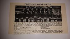 Franklin Academy Malone & Mechanicville High School NY 1927 Football Team Pictur