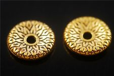 30pcs Golden Metal Beads Loose Spacer Craft Jewelry Findings 12.5x2.5mm DIY