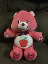 Care Bears Guessing Game Smart Heart Bear ~ Talking Pink Bear w/ Apple on Tummy
