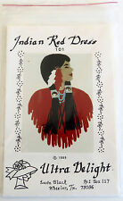 "VTG 1989 NIP APPLIQUE PATTERN ""INDIAN RED DRESS"" ULTRA DELIGHT LEOTA BLACK"