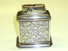 "ZVG ""SERVICE"" TABLE AUTOMATIC LIGHTER W. 935 SILVER CASE - 1953 -MADE IN GERMANY"
