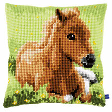 Brown Foal  :Vervaco Chunky Cross Stitch Cushion Kit - PN0155268
