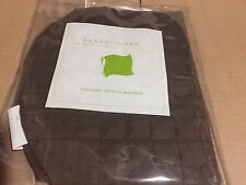 $100! NWT Ann Gish Ready-to-Bed Chocolate 100% SILK Quilted Neckroll Bolster WOW
