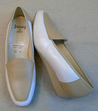 JENNY by ARA Slipper Schuhe Gr. 6,5 G ca. 39,5 Halbschuhe Leder beige weiß