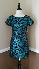 NWT Modcloth It Comes & Glows Dress 4 M Black Teal Green Sequins Cocktail $119
