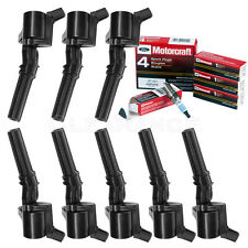 Set of 8 Ignition Coils For Ford Lincoln DG508 & 8 Motorcraft Spark Plugs SP493
