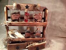 OOAK Witch Potion, Voodoo, Apothecary Rack Set Prop Decor