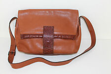 BRIDAS Vintage Echt LEDER Tasche MESSENGER Leather BAG Satchel Schultertasche