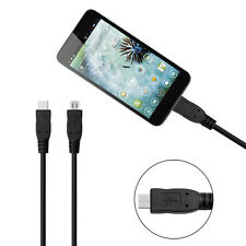 1M Micro USB Male to Male Data Charger Extension Cable For Samsung Mobile Phone