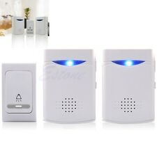 LED Wireless Digital Chime Door Bell Receiver +Remote Control 38 Tune Songs New