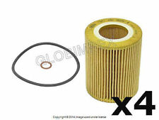 BMW E36 E39 E46 E53 E60 E83 Oil Filter Kit (4) OEM Mann + 1 year Warranty