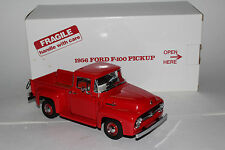 1956 FORD F100 RED PICKUP TRUCK DANBURY MINT DIECAST 1:24 NICE WITH BOX LOT A