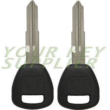 2 New Uncut Transponder Ignition Chip Car Keys for Honda Acura HD106PT