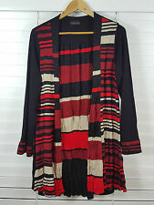 KATHLEEN BERNEY sz M (or 12 ) womens Stripe Long Cardigan