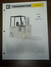 Caterpillar Lift Truck Brochure~M80 Electric Fork Lift~Specifications/Data Sheet