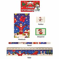 Boys Girls Christmas Stationary Set Xmas Kids Stocking Party Bag Fillers