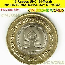 2015 INTERNATIONAL DAY OF YOGA Rs.10 UNC (Bi-Metal) | Ten Rupees # 1 Coin