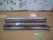 1972 PLYMOUTH FURY FRONT BUMPER LEFT RIGHT GUARD RUBBER STRIP TRIM 72 I II III