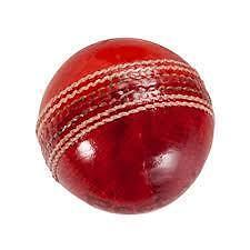 4 PC. RED LEATHER CRICKET BALLS - PACK OF 3 BALLS