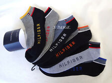 TOMMY HILFIGER Men's Ankle Socks 6 Pairs Cushion Sole Cotton Blend - New!