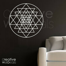Vinyl Wall Decal Sticker sri yantra circle Morrocan Mandala ornament r1801