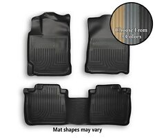 Husky WeatherBeater Front and Rear Floor Mats All Weather Liners - 3 Colors