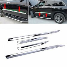 For JEEP Grand Cherokee 2014-2017 Chrome Body Door Side Molding Line Cover Trims