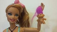 """PINK .8"""" TROLL DOLL for Barbie Ken Kelly Nursery Play Toy Accessory Collectible"""